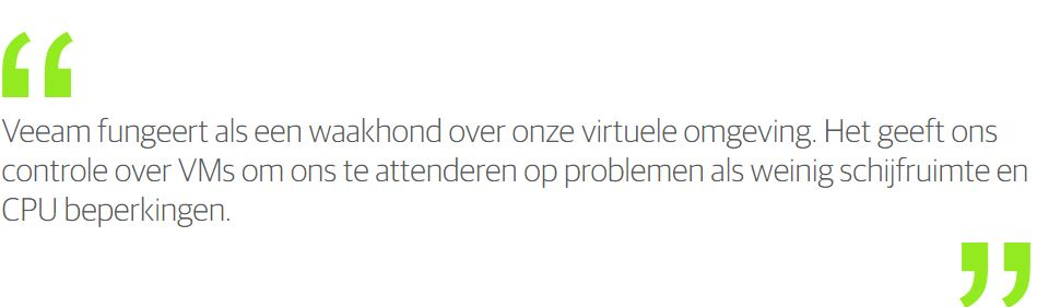 Veeamshop.nl : Veeam One - klant quote